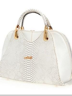 Beyaz Desenli Çanta