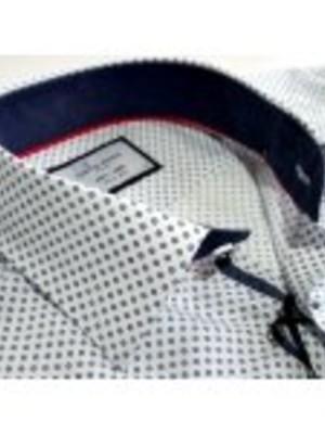 Puantiyeli Beyaz Gömlek
